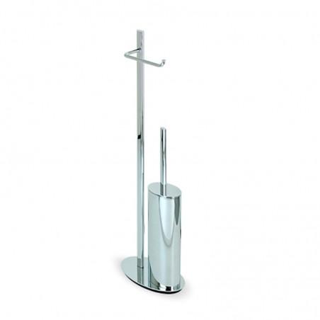 Piantana wc da bagno in ottone cromato design ovale - piantana bagno