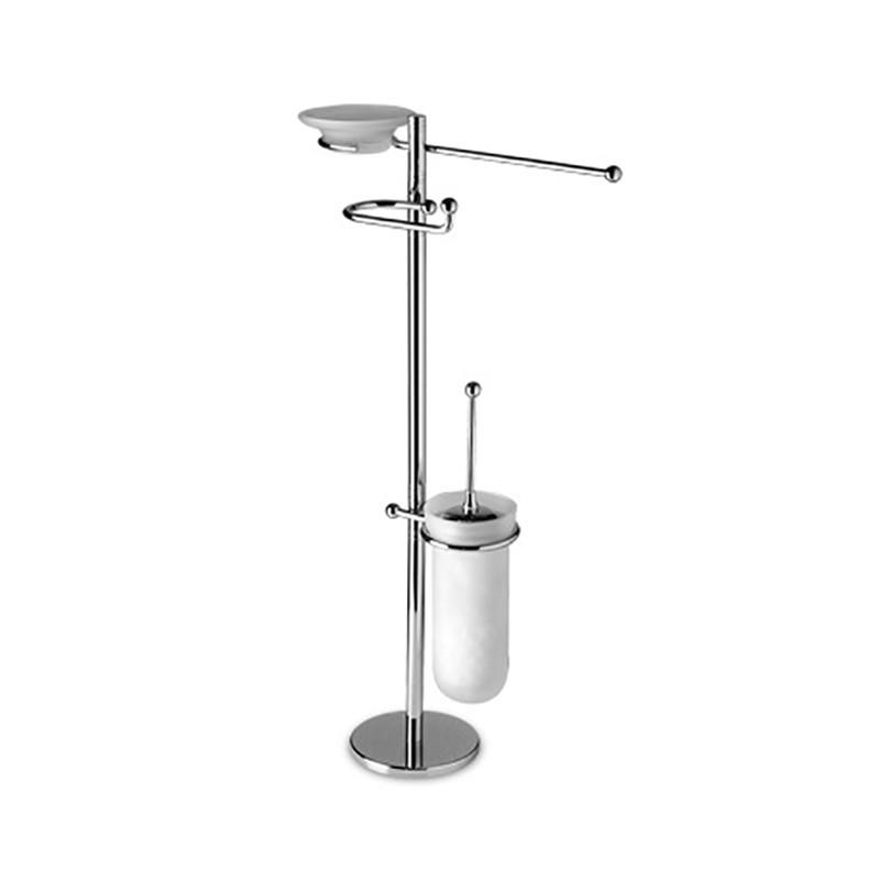 Piantana water bidet da bagno in ottone cromato, componenti orientabili
