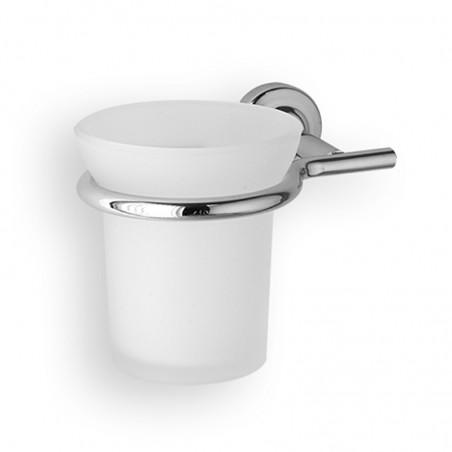 Porta bicchiere da bagno linea Dance in ottone cromato - accessori bagno