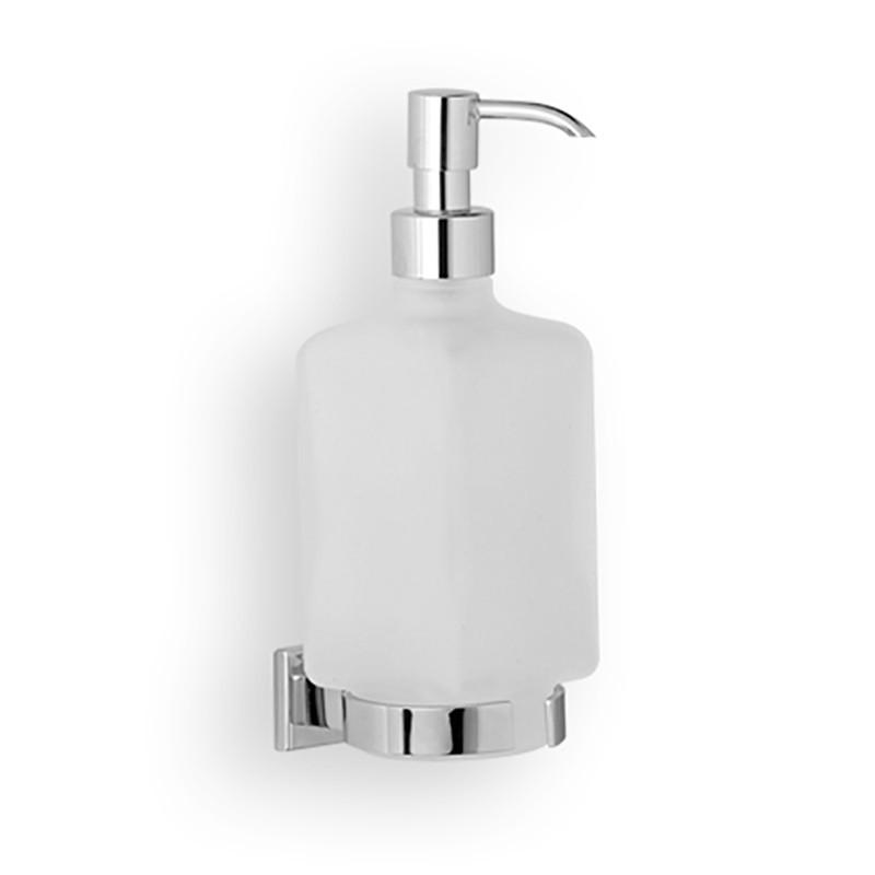 Dosatore di sapone liquido da bagno linea Cuba in ottone cromato