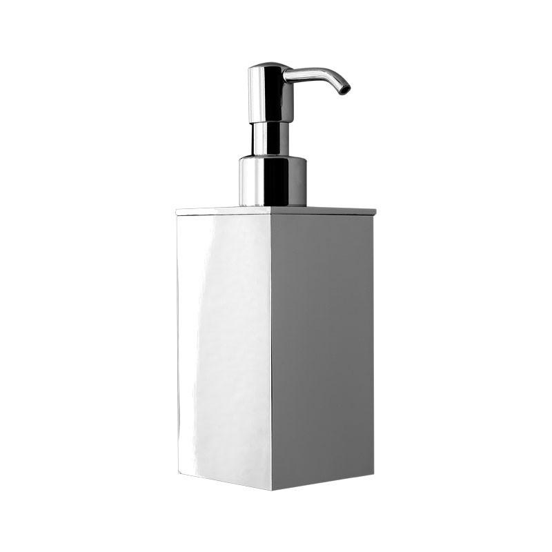 Dosatore di sapone liquido da bagno da appoggio  linea Picasso in ottone cromato