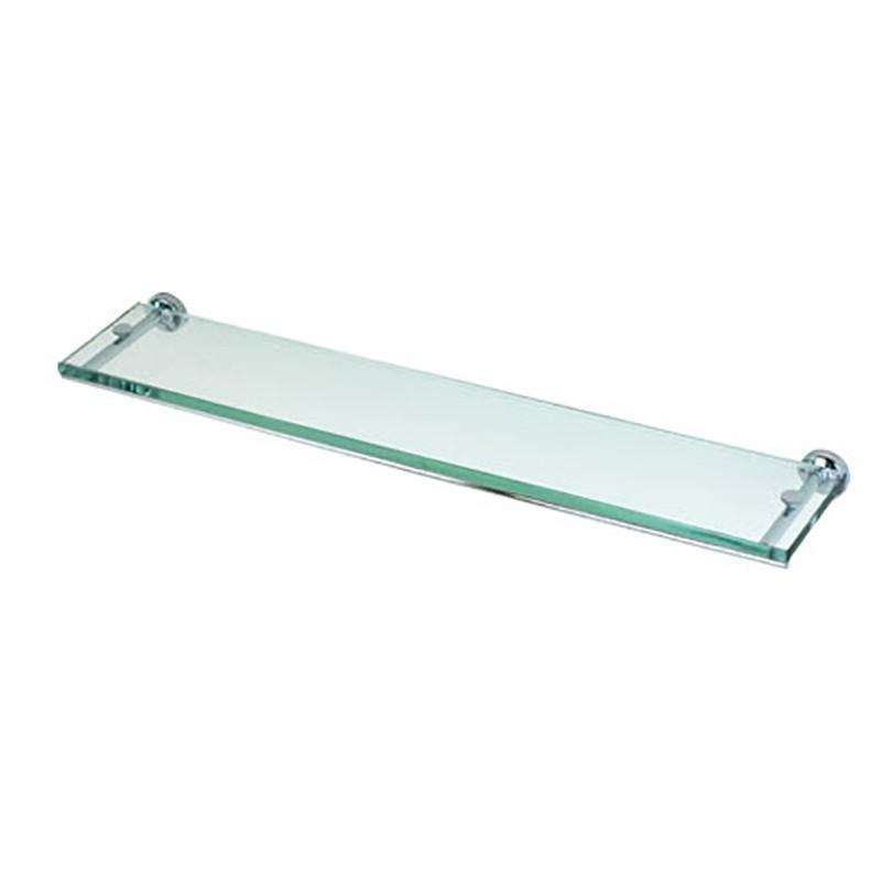 Mensola porta oggetti da bagno cm 60 linea Dance in ottone cromato e vetro
