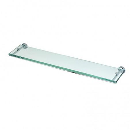 Mensola porta oggetti da bagno cm 60 linea Dance in ottone cromato e vetro - accessori bagno