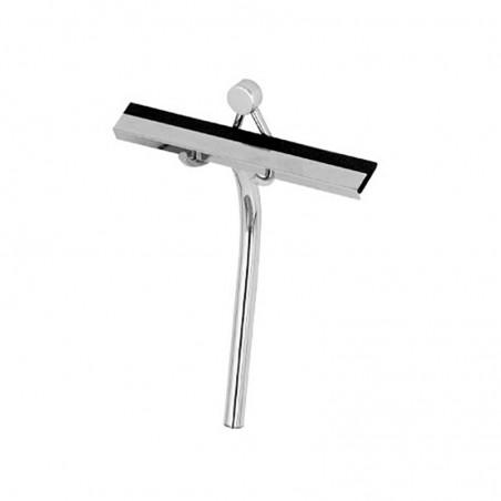 Spazzola pulisci box doccia con gancio in ottone cromato e gomma siliconica - accessori bagno