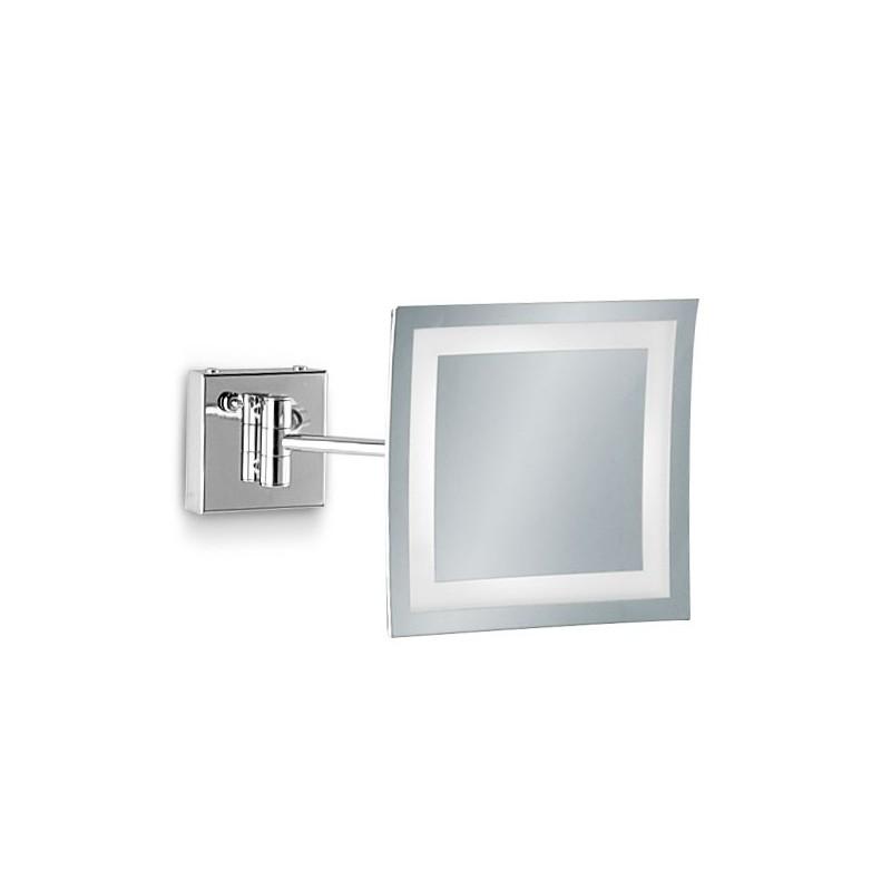 Specchio Bagno Con Braccio.Specchio Ingranditore Da Bagno Con Luce Led E Sabbiatature