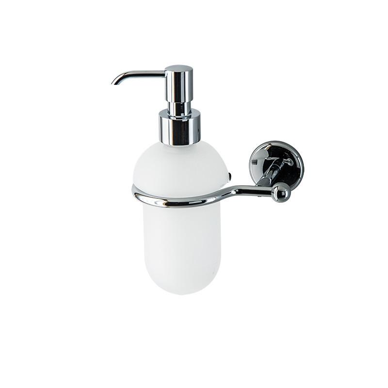 Dosatore di sapone liquido da bagno linea Elite in ottone cromato