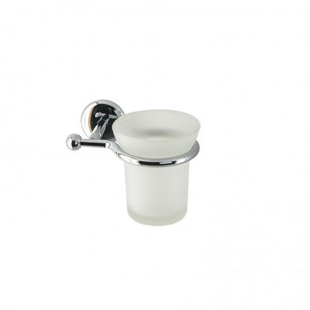 Porta bicchiere da bagno linea Elite in ottone cromato - accessori bagno