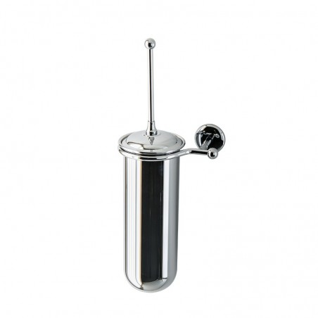 Porta scopino da bagno a parete Linea Elite in ottone cromato - accessori bagno