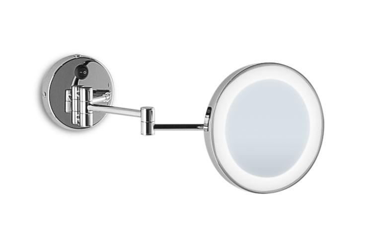 Specchio ingranditore da bagno luce led con sabbiatura