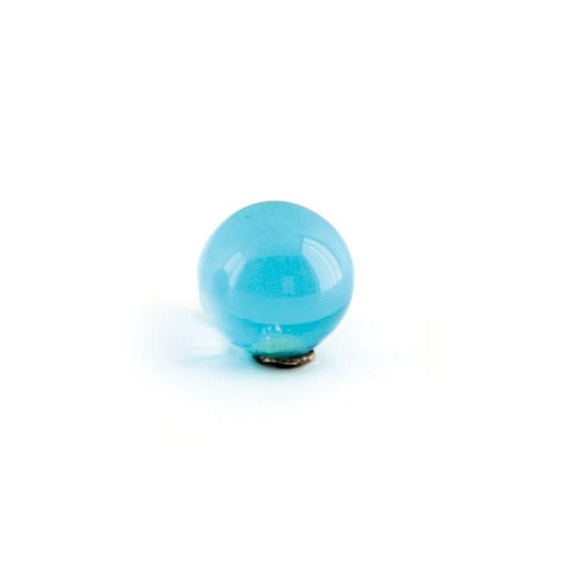 Dosatore di sapone liquido da bagno linea Elite in ottone cromato e finali in vetro colorato
