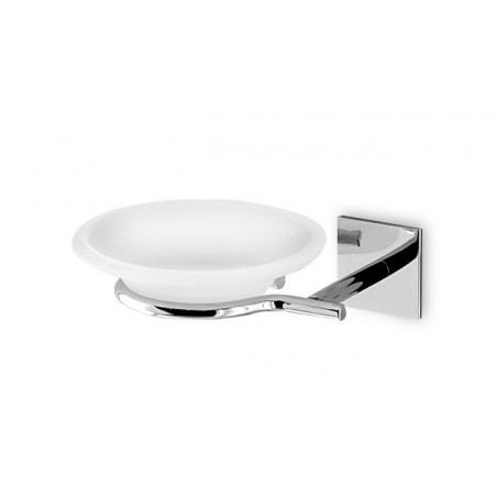 Porta sapone da bagno da incollo linea Desire in ottone cromato - accessori bagno
