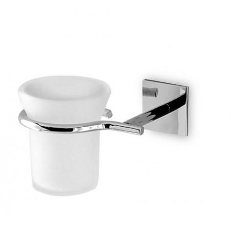Porta bicchiere da bagno da incollo linea Desire in ottone cromato - accessori bagno