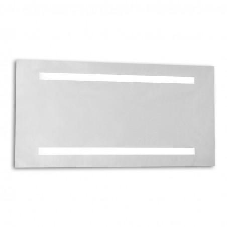 Specchio da bagno con illuminazione neon integrata e sabbiature