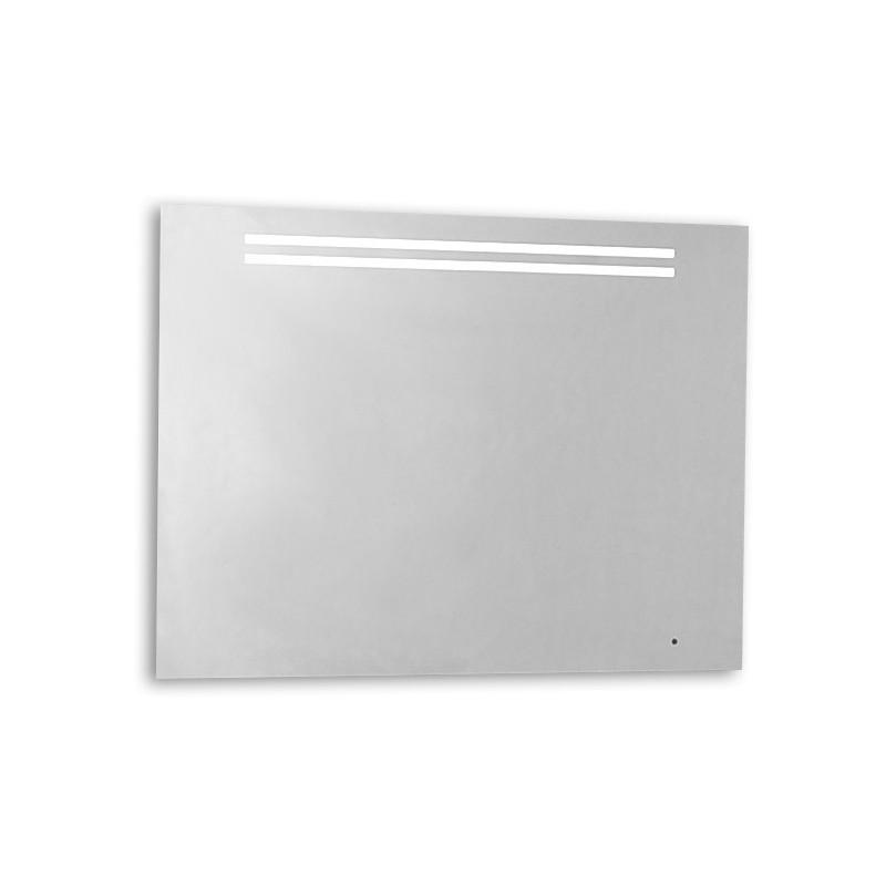 Specchio da bagno con luce led integrata e sabbiature for Specchio bagno led integrato