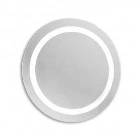 Specchio con illuminazione led integrata e sabbiature di alta precisione.