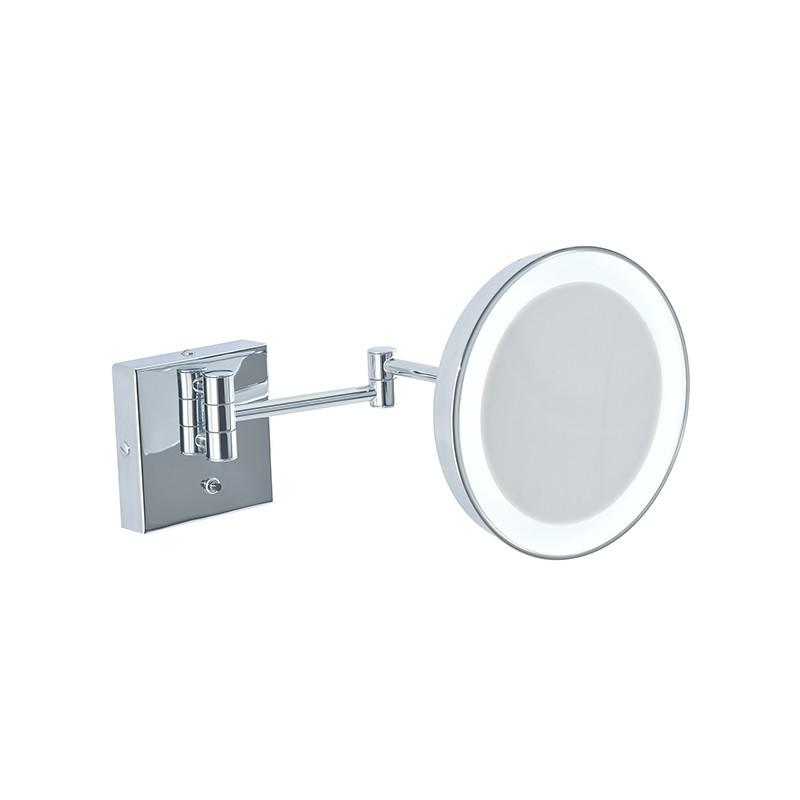 Specchio ingranditore da bagno con luce Led batteria