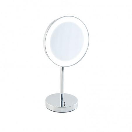 Specchio ingranditore da bagno con luce Led batteria da appoggio