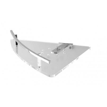 Angolare doccia in ottone cromato e plexiglass - accessori bagno