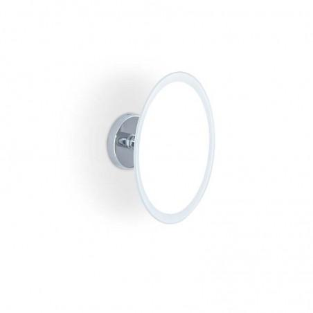 Specchio ingranditore da bagno a parete ingrandimento 2X - ottone cromato
