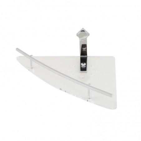 Mensola doccia angolare in ottone cromato e plexiglass - accessori doccia