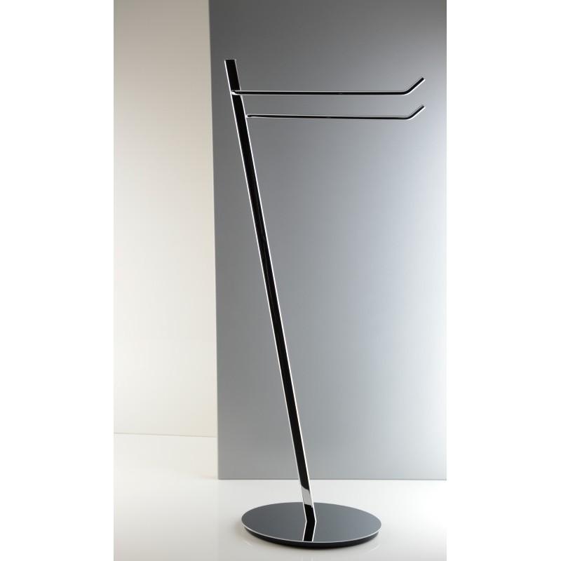 Piantana lavabo da bagno in ottone cromato design ovale inclinato