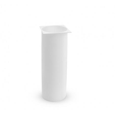 Ricambi accessori bagno - tazza plastica scopino bagno quadrato