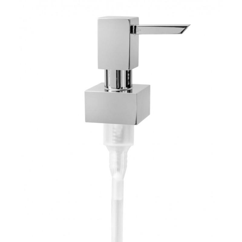 Dosatore sapone - ricambio completo quadrato ottone cromato - accessori bagno