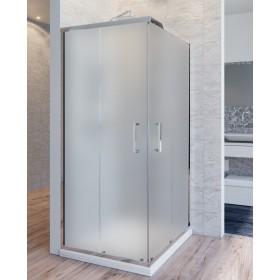 Box doccia 2 lati cristallo 6 mm satinato anticalcare doppia porta scorrevole