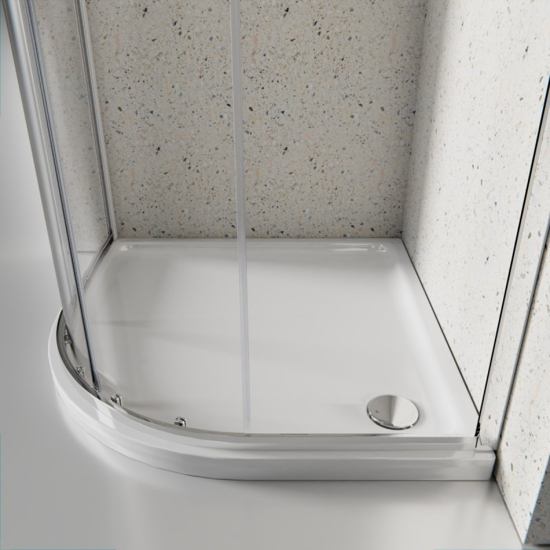 Box doccia 2 lati cristallo 6 mm semicircolare anticalcare doppia porta scorrevole