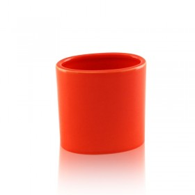 Bicchiere da appoggio ovale in ceramica - accessori bagno