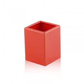 Bicchiere da appoggio quadrato in ceramica - accessori bagno