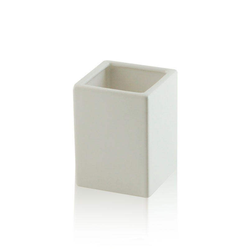 Bicchiere bagno ceramica quadrato appoggio accessori bagno - Oggettistica bagno ...