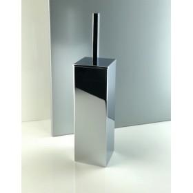 Porta scopino da bagno quadrato a terra - pavimento in ottone cromato