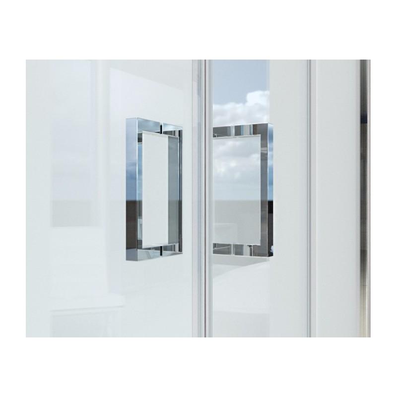 box doccia 2 lati cristallo porta scorrevole + lato fisso