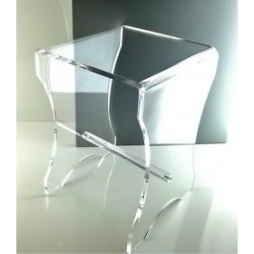 Sgabello bagno in plexiglas