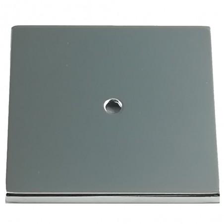 Ricambio coperchio quadrato scopino bagno - wc ottone cromato - ricambi accessori bagno