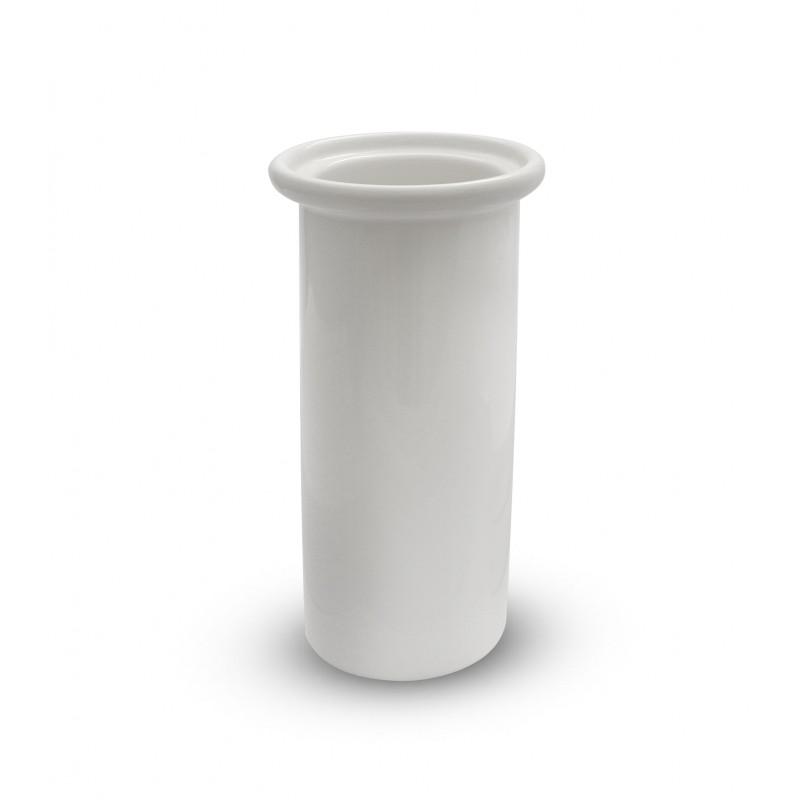 Scopino bagno tazza ceramica bianca -
