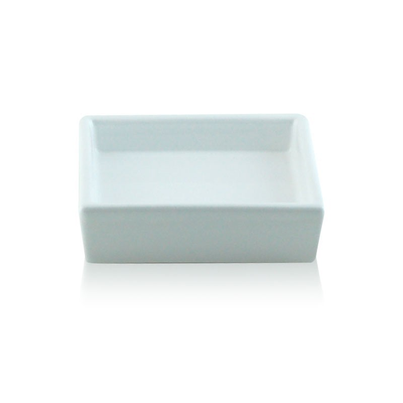 Porta sapone da appoggio quadrato in ceramica